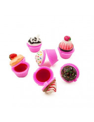 Tytroy Assorted Scented Novelty Lip Gloss Lip Balm Cupcake Makeup Girls Spa Party Favors (24 pc)