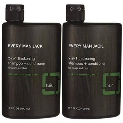 Every Man Jack 2-in-1 Thickening Shampoo & Conditioner 13.50 oz ( Pack of 2)
