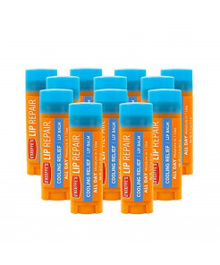 O'Keeffe's Cooling Relief Lip Repair Lip Balm for Dry, Cracked Lips, Stick, (Pack of 12)