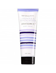 Bath and Body Works Lavender and Sandalwood Body Cream 8 Ounce Full Size Moisturizing Cream