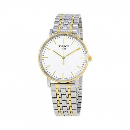 Tissot T-Classic White Dial Two Tone Stainless Steel Men's Watch T1094102203100