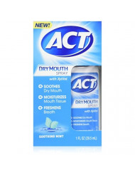 ACT Dry Mouth Spray 1 oz (Pack of 2)