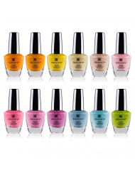 SHANY Nail Polish Set - 12 Spring Inspired Shades in Gorgeous Semi Glossy and Shimmery Finishes - Pastel Collection