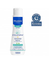 Mustela Stelatopia Baby Bath Oil, New Packaging, 6.76 Fl Oz
