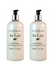 Scottish Fine Soaps Au Lait Liquid Hand Wash - 500ml/17.5 oz (2-Pack)