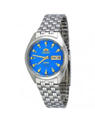 Orient FAB00009L Men's 3 Star Stainless Steel Blue Dial Self Wind Automatic Watch