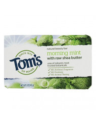 Tom's of Maine Natural Beauty Bar Soap with Raw Shea Butter, Mint, 6 Count