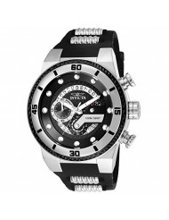 Invicta Men's S1 Rally Stainless Steel Quartz Watch with Silicone Strap, Black, 30 (Model: 24221)