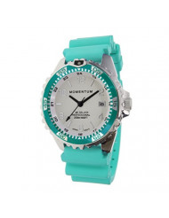 Women's Quartz Watch   M1 Splash by Momentum  Stainless Steel Watches for Women   Dive Watch with Japanese Movement & Analog Display   Water Resistant ladies watch with Date - Lume / Aqua Rubber