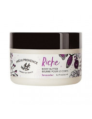Pre de Provence Riche Collection Three Cream Hydrating and Soothing Body Butter, Lavender, 0.5 Pound