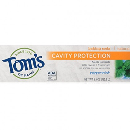 Tom's of Maine Whole Care Cinnamon Clove Fluoride Toothpaste, 4.7 Ounce, 6 Count