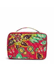 Vera Bradley Women's Signature Cotton Large Blush & Brush Makeup Cosmetic Makeup Case, Rumba, One Size