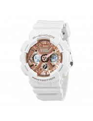 Casio Women's G Shock Stainless Steel Quartz Watch with Resin Strap, White, 29 (Model: GMA-S120MF-7A2CR)