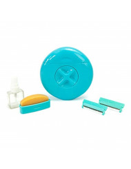 Sphynx Razor for Women: All-In-One Travel and Portable Women's Razor with Refillable Blades & Shave Bar (Teal)