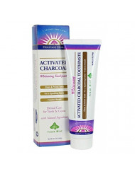 Activated Charcoal Toothpaste Mint Heritage Store 5.1 oz Paste