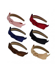 Pack of 6 Bow Bowknot Hair Hoop Headband Headwear Accessory for Lady Girls Women FK19 (6Colors)
