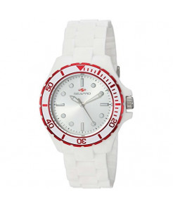 Seapro Women's Spring Stainless Steel Quartz Watch with Silicone Strap, White, 18 (Model: SP3215)