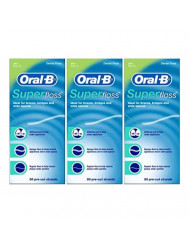 Oral-B Super Floss, 50 Pre-Cut Strands, Mint - Pack of 3