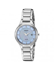 Seiko Women's Ladies Dress Japanese-Quartz Watch with Stainless-Steel Strap, Silver, 13.2 (Model: SUT351)