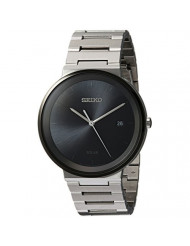 Seiko Mens Dress Japanese-Quartz Watch with Stainless-Steel Strap, Silver, 20 (Model: SNE479)