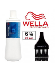 Wella KOLESTON WELLOXON PERFECT Cream Developer (with Sleek Tint Brush) (20 Volume/6% - 33.8 oz liter)
