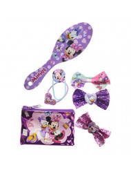 TownleyGirl Minnie Mouse Hair Set, Includes Hair Brush, Hair Bows, and Hair Clips, 7 CT