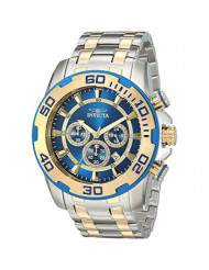 Invicta Men's Pro Diver Quartz Watch with Stainless-Steel Strap, Silver, 26 (Model: 26296)