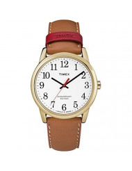 Timex Men's TW2R40100 Easy Reader 40th Anniversary 38mm Tan/White Leather Strap Watch