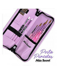 Mia Secret Nail Brush Holder - Tools Case - Pouch - Pink New Arrival !