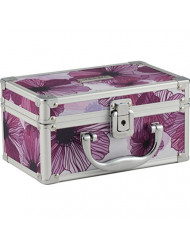 Vaultz Locking Mini Makeup Artist Case, Purple Floral (VZ03747)