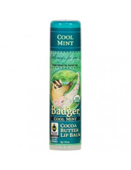 Badger Cool Mint Cocoa Butter Lip Balm - 3 Pack