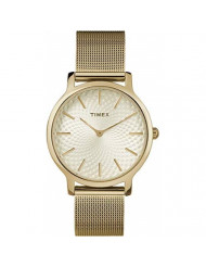 Timex Women's TW2R36100 Metropolitan 34mm Gold-Tone Stainless Steel Mesh Bracelet Watch