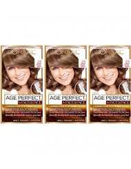 L'Oreal Paris Hair Color Age Perfect By Excellence Layered Tone Flattering Color, 5N Medium Natural Brown, 3 Count