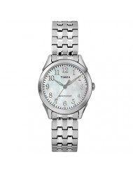 Timex Women's TW2R48300 Briarwood Silver-Tone/MOP Stainless Steel Expansion Band Watch