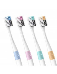 Xiaomi Doctor B Bass Method Antibacterial Designer Toothbrush (Set of 4) w/Travel case