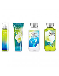 Bath & Body Works TAHITI ISLAND DREAM Deluxe Gift Set Lotion ~ Cream ~ Fragrance Mist ~ Shower Gel Lot of 4
