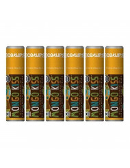 Lip Balm Mongo Kiss 6-Pack (6 Tubes) Vanilla Honey by Eco Lips 100% Organic Beeswax & Cocoa Butter Lip Care with Organic Mongongo Oil - Soothe & Moisturize Dry and Cracked Lips - Made in USA