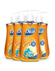 Dial Liquid Hand Soap, Marula Oil, 7.5 Fluid Ounce, Pack of 4