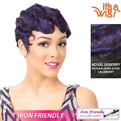 It's A Wig Synthetic Hair Wig Nuna (NDXBLUEBERRY - NATURAL DARK EXTRA + BLUEBERRY)