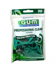 GUM Professional Clean Flossers Fresh Mint - 90 ct, Pack of 3