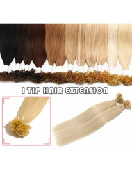 S-noilite Pre Bonded Keratin Human Hair Extensions 22inch 50g U Tip Hot Fusion Remy Hair for Women Girls 0.5g/strand Nail Tip Glue Extensions 100strands #60 Platinum Blonde
