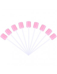 100pcs Disposable Oral Care Swabs Tooth Cleaning Mouth Swabs Oral Swabs Pink