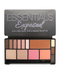 BYS Essentials Exposed 5in1 Face Eye and Brow Palette Makeup Set with Applicator 14 Shades