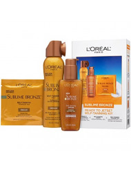 L'Oreal Paris Sublime Bronze Self Tanner Best Sellers Jetset Kit, 1 kit