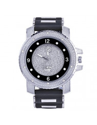 XL Heavy Iced Bling Rapper Hip Hop Techno Pave Watches 7758 SBBK