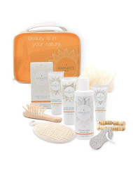 Holiday Special Spa Gift Set (11 Luxury Pieces) Charcoal Masque, Eye Cream, Grapefruit Hand & Body Lotion, Grapefruit Shower Gel, Bath Salt, Loofah, Sisal Sponge, & More -Made in USA