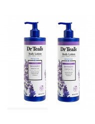 Dr Teal's Body Lotion Moisture plus Soothing Lavender, 16 fl oz (Pack of 2)