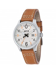 AV-4053 Hawker Hurricane Analog Display Japanese Quartz Watch with Leather Band