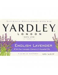 Yardley London English Lavender with Essential Oils Soap Bar, 4.25 oz Bar (Pack of 12)