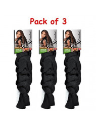 [ Pack of 3 ] X-pression Braiding Hair by Sensationnel/Color 2 / Dark Brown
